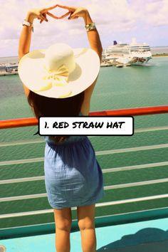 1. Red #Straw Hat
