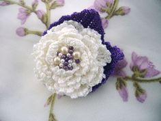 Crochet rose brooch  http://www.etsy.com/shop/CraftsbySigita?ref=si_shop