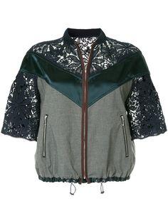 Kolor куртка на молнии с кружевными панелями