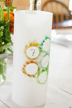 Cool table number candleholder, Photography by andihatchphoto.com, Floral Design by chestnutandvine.com