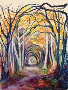 Mind's Journey by Anita Nowinska www.nowinska.co.uk  #art, #trees, #woodland,#landscape