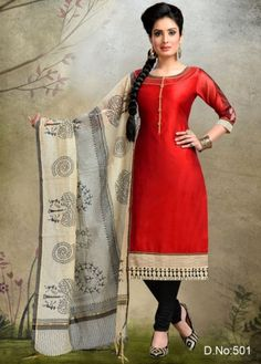 Shreedevi Textile Coimbatore-Maroon Colored Chanderi Silk Salwar-501
