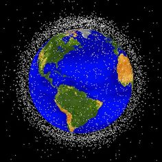 Space Garbage by NASA Orbital Debris Program: After decades of space exploration, there are now more than 500,000 pieces of artificial debris greater than half an inch in size.
