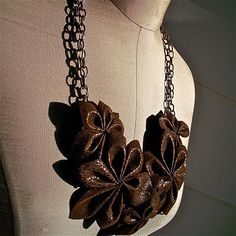 The Sisters 4 say.... MORE is More: Chocolate Flower Necklace tutorial....