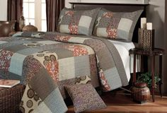 Greenland Home Fashions Stella Quilt Set in King Size
