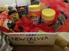 New Driver Survival Kit Sweet sixteen gifts Sweet sixteen and