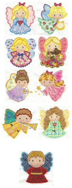 Embroidery | Free machine embroidery designs | Angels Applique