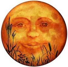 Yesterday, the of September, there was a Harvest Moon. That sounds romantic, but I had to look up what a Harvest Moon is; Sun Moon Stars, My Sun And Stars, Harvest Moon, Halloween Art, Vintage Halloween, Victorian Halloween, Halloween Clipart, Halloween Images, Paper Moon
