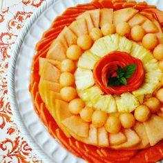 Papaya, cantaloupe, pineapple salad. A buen tiempo! Enjoy!