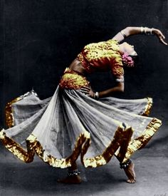 Indian dancer- dancing is a form of portraying the body as art.