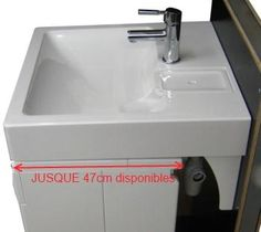 Pinterest the world s catalog of ideas - Lavabo gain de place pour machine a laver ...