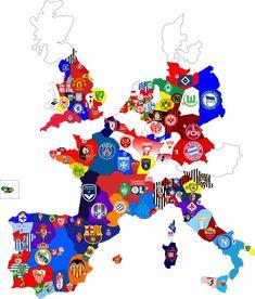 All European soccer team map Arsenal Football, Sport Football, Football Soccer, Rugby Sport, College Basketball, Soccer Memes, Football Memes, Soccer World, World Football