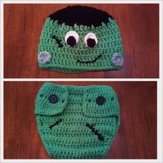 f6c38d61bd0 Butterfly s Creations  Frankenstein Beanies. FREE pattern for all sizes  Crochet Baby Clothes