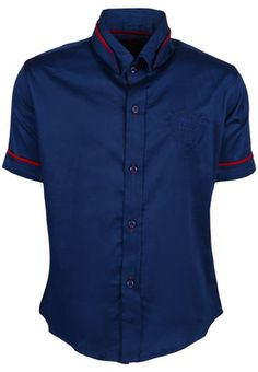 3cd45ffb2203b Blue coloured casual shirt for boys by Blazo. Crafted from a blend of  cotton and