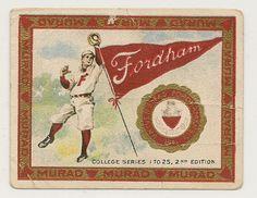 Vintage Fordham Baseball Card