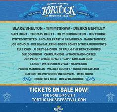 #TortugaMusicFestival line up 2016