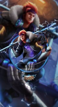 Wallpaper Sun Street Legends Skin Mobile Legends HD for Android and iOS Wallpaper Hp, Mobile Legend Wallpaper, Mobiles, Bruno Mobile Legends, Ranger, Alucard Mobile Legends, Moba Legends, Golden Warriors, Legend Games