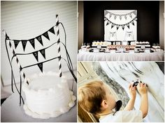 Mustache parties are very popular right now (I recently designed a new collection myself!), and this black and white version is fabulous. I love how Melissa had two cakes and created such fun games for the party.