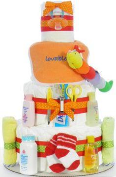 Caterpillar Diaper Cake Diaper Cupcakes, Diaper Wreath, Towel Cakes, Gift Cake, Decor Ideas, Gift Ideas, Do It Yourself Projects, Footprints, Caterpillar