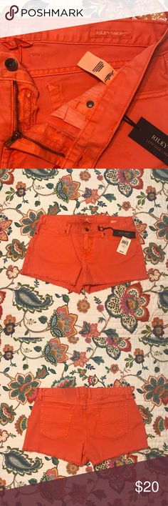 🍀Lucky Brand orange Riley shorts🍀 🍀Lucky Brand orange Riley shorts🍀 Size 12/31. NWT. All offers considered😉 Lucky Brand Shorts Jean Shorts