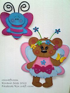 """My """"BUTTERFLY BEAR""""  paper piecing.  Rox craft room"""