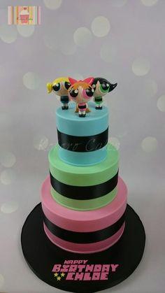 Powerpuff girls - Cake by Kokoro Cakes