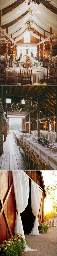 country rustic barn wedding reception ideas