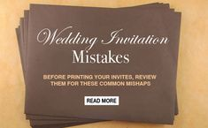 Common Wedding invitation mistakes