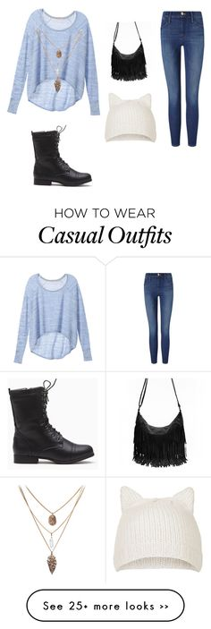 """""""Casual outfit!"""" by missymia121 on Polyvore featuring Victoria's Secret, Frame Denim and Topshop"""