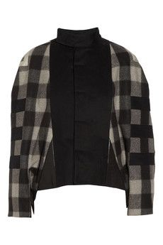 Rick Owens plaid wool jacket