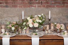 garden rose and jasmine centerpiece by Finch & Thistle Seattle $250