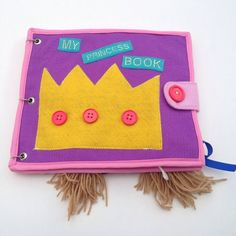 handmade princess felt book childrens book quiet book montessori toy 4 year old learning book busy book learning activity book