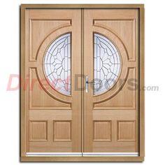 Empress External Oak Double Door and Frame Set with Zinc Clear Tri Glazing.  #unusualdoors