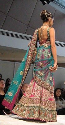 Asian Bride Pink and Blue