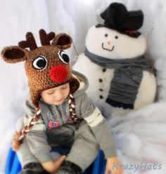 Reindeer crochet hat - adorable!!