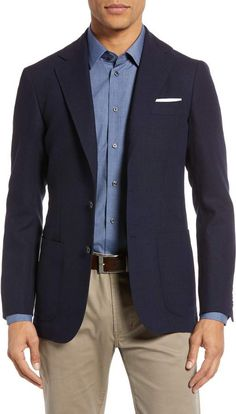 Ring Jacket Trim Fit Plaid Wool Sport Coat Blue Blazer Outfit, Blazer Outfits Men, Navy Sport Coat, Mens Sport Coat, Nordstrom Coats, Sport Fashion, Mens Fashion, Fashion Boots, Formal Men Outfit
