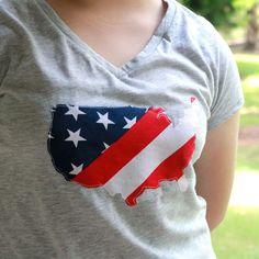 Appliqued Patriotic T-Shirt   Analisa Murenin for Silhouette