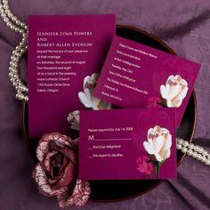 elegant purple and pink rose wedding invitations online Purple Wedding Invitations, Wedding Invitations Online, Reception Card, Response Cards, Wedding Planning, Rose Wedding, Wedding Things, Place Card Holders, Spring Weddings
