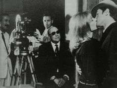 BOOM: .. Melville. The master. The maestro. The auteur. Directing the Delons in Le Samourai.
