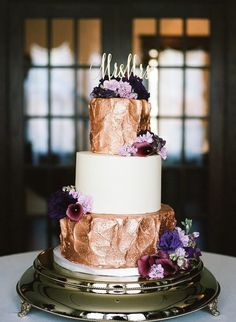 sophisticated amethyst + rose gold wedding ~ june 12 at cj's off the square