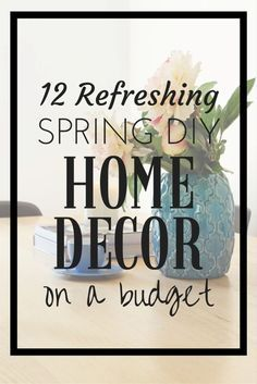 This spring, freshen up your home without breaking the bank. Put on your DIY hat and add fun new touches to your décor. Get crafty and make your own marbled planter using nail polish, a terra cotta pot, and a plastic container. Then choose a cheerful plant for it. Create a chic accent wall using stencils and paint. Update your old wood furniture with spray paint and painter's tape. Decorate a large mirror with spray-painted fake flowers and vines. Consult eBay for more spring DIY décor tips!