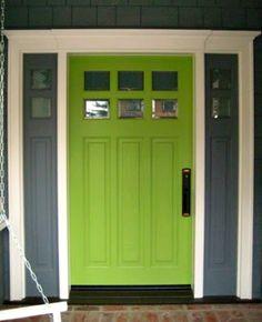 bejárati ajtó ötletek#Lime-green-front-door