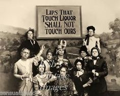 """Lips-that-Touch-Liquor-Prohibition-Temperance-Womens-Lib-Vintage???  I don't know if this is really against liquor or a joke.  Also, not sure how """"vintage"""" it actually is...."""