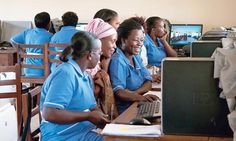 Student midwives in Uganda use e-learning to complete training gaps