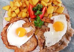 Holstein szelet 🍳 recept foto Meat Recipes, Cooking Recipes, Hungarian Recipes, Ciabatta, Nutella, Bacon, Food Porn, Pork, Food And Drink