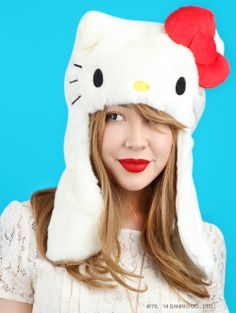 #HelloKitty fluffy hats and #hairaccessories