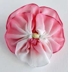 Sweet Pink Pansy Hair Clip Vintage French от dorothydesigns