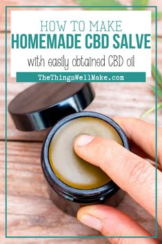 Many people use CBD salves on their achy or stiff joints and muscles. Today I'll show you how to make a CBD salve using CBD oil that can be easily obtained in the United States and many other countries. Weed Recipes, Salve Recipes, Marijuana Recipes, Cannabis Edibles, Soap Recipes, Medicinal Herbs, Natural Medicine, Herbal Remedies, Herbalism