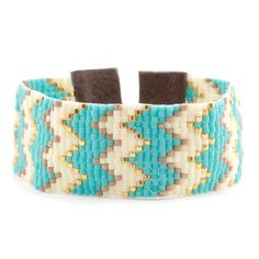 Chan Luu - Turquoise Mix Chevron Cuff Bracelet on Brown Leather, $190.00 (http://www.chanluu.com/bracelets/turquoise-mix-chevron-cuff-bracelet-on-brown-leather/)