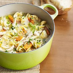 SOUP: Chicken Noodle Soup - Soup Recipes - Easy Recipes - QUICK! - Redbook